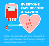 Donate your blood. Template poster for donor day blood donation  saving life Stock Images