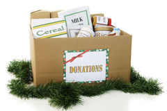 Donated Food for the Holidays Royalty Free Stock Image