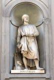 Donatello statue by Girolamo Torrini and Giovanni Bastianini, Florence Royalty Free Stock Photo