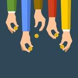 Donating Money Concept. Sponsors Icon. Vector Stock Image