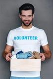 Donating with pleasure. Stock Image