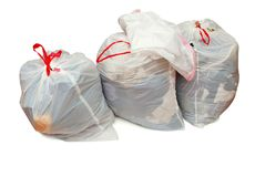 Donation bags with clothing Stock Photo