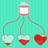 Donation of blood royalty free illustration