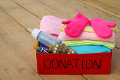 Donation box for children Royalty Free Stock Photos