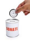 Donation Box and clock Stock Photography