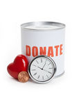 Donation Box and Red Heart Royalty Free Stock Image
