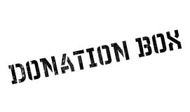 Donation Box rubber stamp Stock Photography