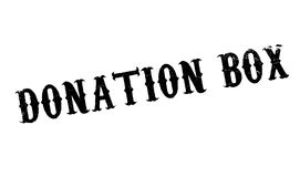 Donation Box rubber stamp Royalty Free Stock Photography