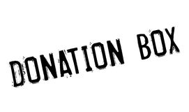 Donation Box rubber stamp Royalty Free Stock Photos