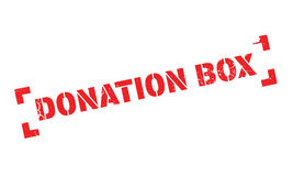 Donation Box rubber stamp Royalty Free Stock Image