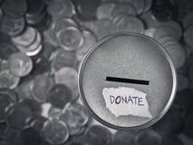 Donation boxas arkivbilder