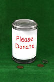 Donation can Royalty Free Stock Image