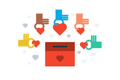 Donation for charity concept Royalty Free Stock Image