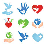 Donation and Charity Icons Royalty Free Stock Images