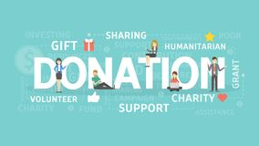 Donation concept illustration. Idea of gift, support and charity Royalty Free Stock Image