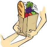Donation de nourriture Photographie stock libre de droits