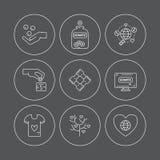 Donation Icons Stock Image