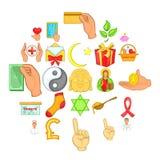 Donation icons set, cartoon style. Donation icons set. Cartoon set of 25 donation vector icons for web isolated on white background Royalty Free Stock Image