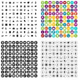 100 donation icons set vector variant. 100 donation icons set vector in 4 variant for any web design isolated on white Royalty Free Stock Photography