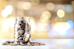 Donation Jar with Copy Space. Fundraiser, Charity and Relief Work Royalty Free Stock Photography