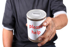 Donation sans foyer photographie stock libre de droits