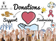 Donation Share Support Fundraising Help Concept Stock Images