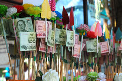 Donation for temple stock photo