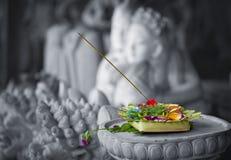 Donation till gudarna. Indonesien Bali royaltyfri bild