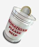 Donation Tin Can Royalty Free Stock Images