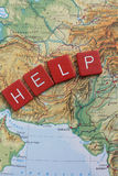 donationnedladdninghjälp pakistan Arkivbilder