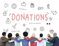 Donations Charity Foundation Support Concept Royalty Free Stock Photos