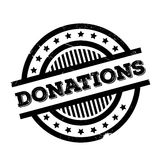 Donations rubber stamp Stock Photos