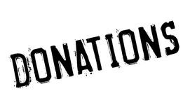 Donations rubber stamp Royalty Free Stock Photo