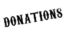Donations rubber stamp Stock Photography