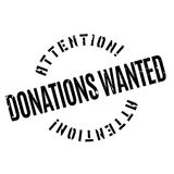 Donations Wanted rubber stamp Stock Image