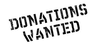 Donations Wanted rubber stamp Royalty Free Stock Photography