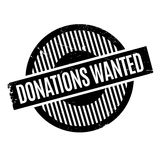 Donations Wanted rubber stamp Stock Photos