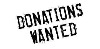 Donations Wanted rubber stamp Stock Photography