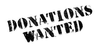 Donations Wanted rubber stamp Royalty Free Stock Image