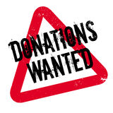 Donations Wanted rubber stamp Royalty Free Stock Photo