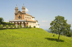 Donato - Church. Donato (Biella, Piedmont, Italy) - The church and a tree Royalty Free Stock Photography