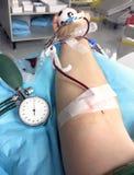 Donatore di sangue quando donano sangue in ospedale 3 Fotografia Stock Libera da Diritti