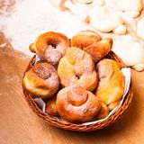 Donats in basket Royalty Free Stock Photo