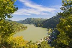 Donau in Österreich Stockfotografie