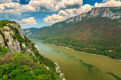 Donau Cazanele Mari National Park op de Roemeens-Servische grens Royalty-vrije Stock Fotografie