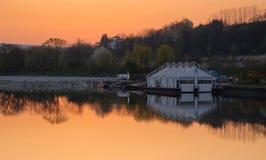 Donau at dusk (HDR). The Donau near Passau (Germany, Lower Bavaria) at dusk Royalty Free Stock Photography