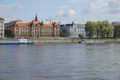 Donau flod i Bratislava Fotografering för Bildbyråer