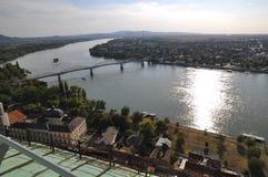 Donau i Esztergom Fotografering för Bildbyråer