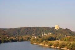 Donau in Kelheim (Duitsland) royalty-vrije stock foto