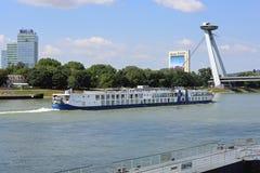 Donau-Kreuzfahrt Bratislava Stockfotografie
